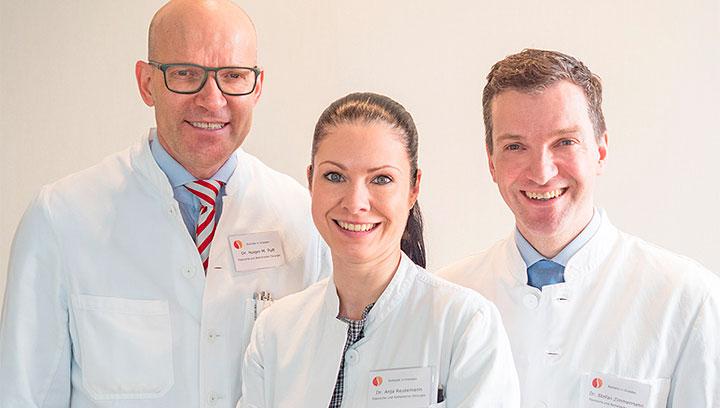 Dr. med. Holger Pult, Dr. med. Anja Reutemann und Dr. med. Stefan Zimmermann, Fachärzte für Plastische und Ästhetische Chirurgie
