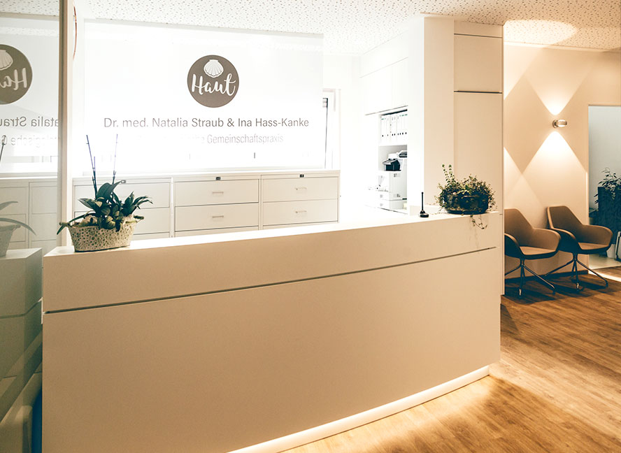 ICE AESTHETIC® Eingangsbereich Ahlen Dr. Straub & Ina Hass-Kanke